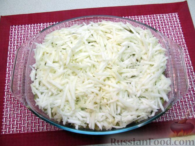 Фото приготовления рецепта: Рис, запечённый с куриной печенью, яблоками и сыром - шаг №12