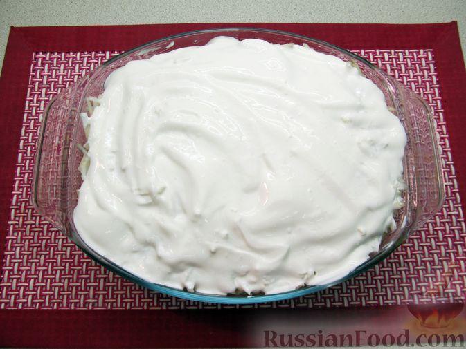 Фото приготовления рецепта: Рис, запечённый с куриной печенью, яблоками и сыром - шаг №13
