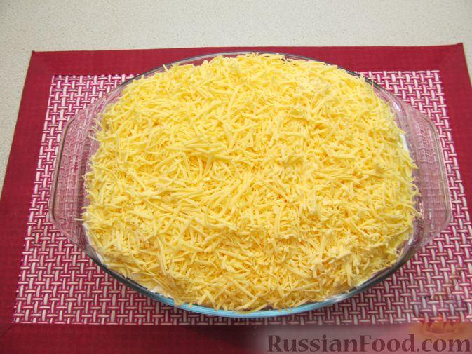 Фото приготовления рецепта: Рис, запечённый с куриной печенью, яблоками и сыром - шаг №14