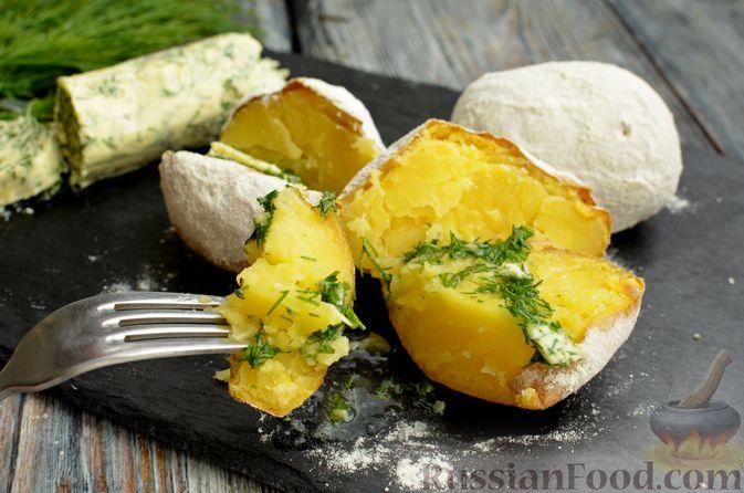 """Фото к рецепту: Запечённый картофель """"как на костре"""""""