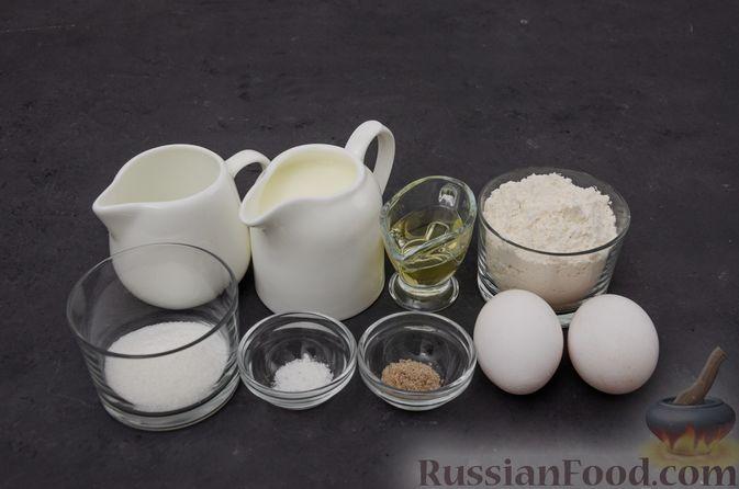 Фото приготовления рецепта: Заварные блины на кефире - шаг №1