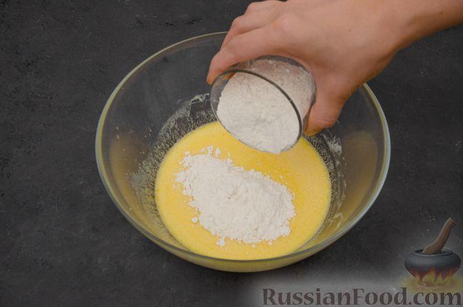 Фото приготовления рецепта: Заварные блины на кефире - шаг №5