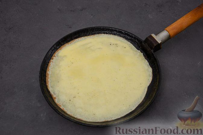 Фото приготовления рецепта: Заварные блины на кефире - шаг №9