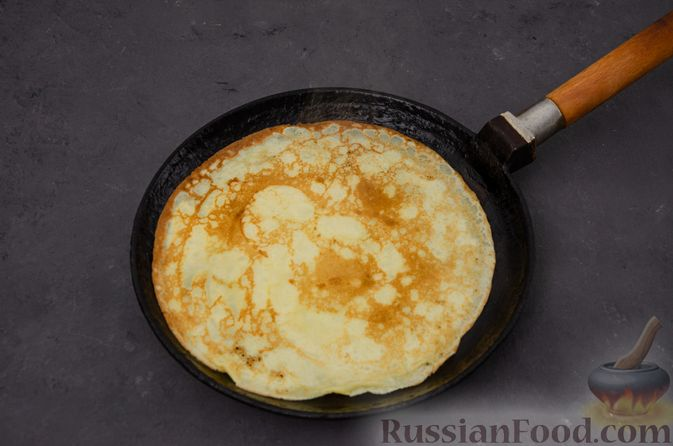 Фото приготовления рецепта: Заварные блины на кефире - шаг №10