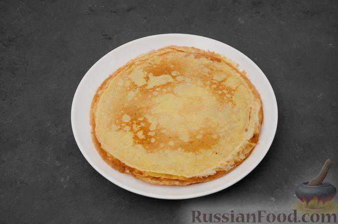 Фото приготовления рецепта: Заварные блины на кефире - шаг №11
