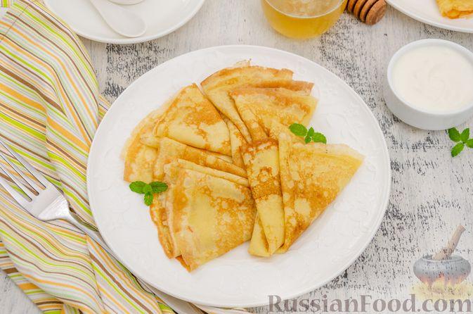 Фото приготовления рецепта: Заварные блины на кефире - шаг №12