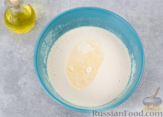Фото приготовления рецепта: Ажурные блины на дрожжах - шаг №9