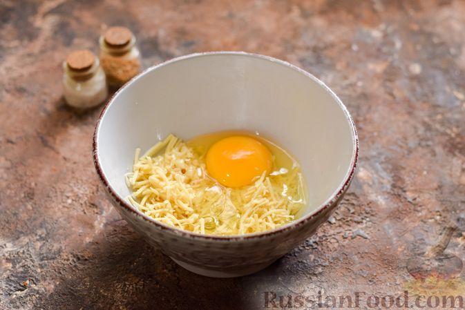 Фото приготовления рецепта: Куриные сердечки в сырном кляре,  жаренные во фритюре - шаг №5