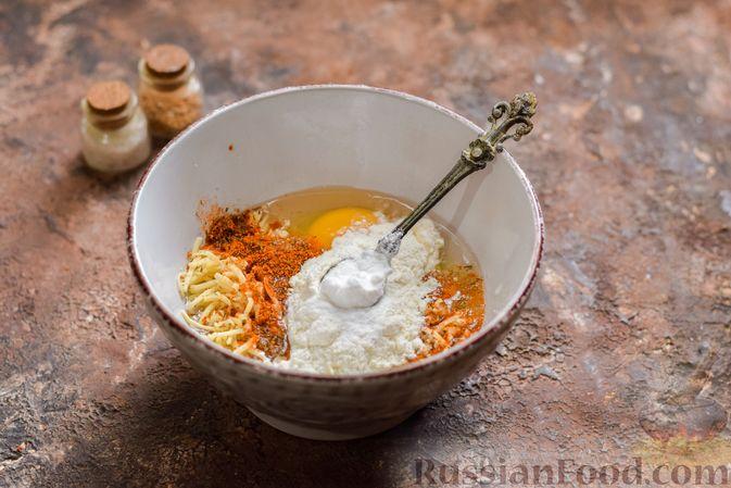 Фото приготовления рецепта: Куриные сердечки в сырном кляре,  жаренные во фритюре - шаг №6