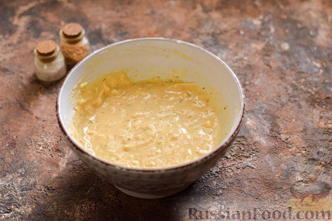 Фото приготовления рецепта: Куриные сердечки в сырном кляре,  жаренные во фритюре - шаг №7