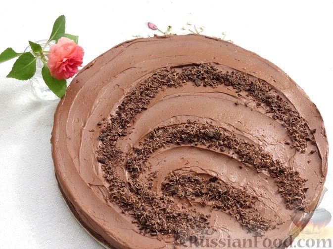 Фото к рецепту: Шоколадный торт со сливочным сыром (без выпечки)
