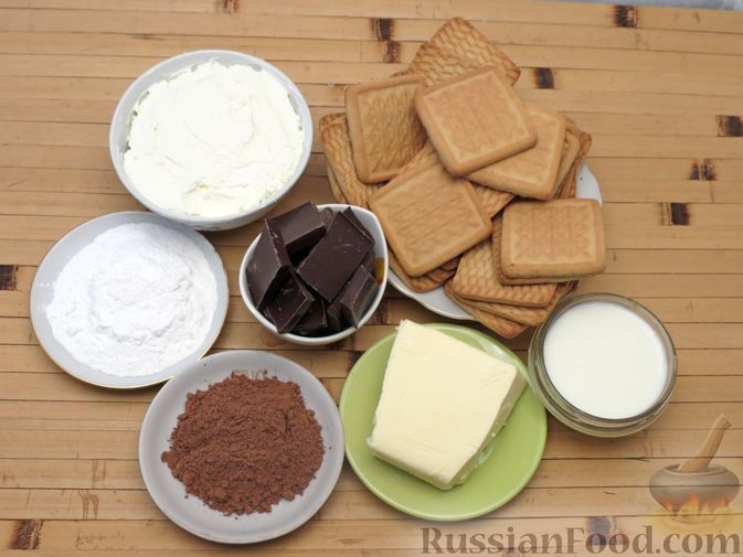 Фото приготовления рецепта: Шоколадный торт со сливочным сыром (без выпечки) - шаг №1