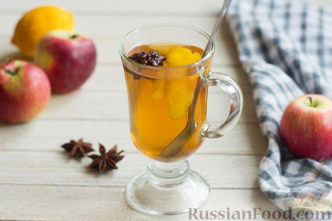 Фото к рецепту: Яблочный безалкогольный глинтвейн