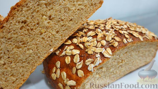 Фото к рецепту: Овсяный хлеб с мёдом (по скандинавскому рецепту)