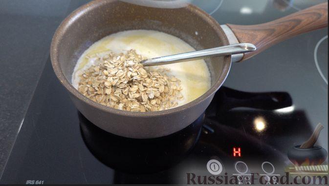 Фото приготовления рецепта: Овсяный хлеб с мёдом (по скандинавскому рецепту) - шаг №1