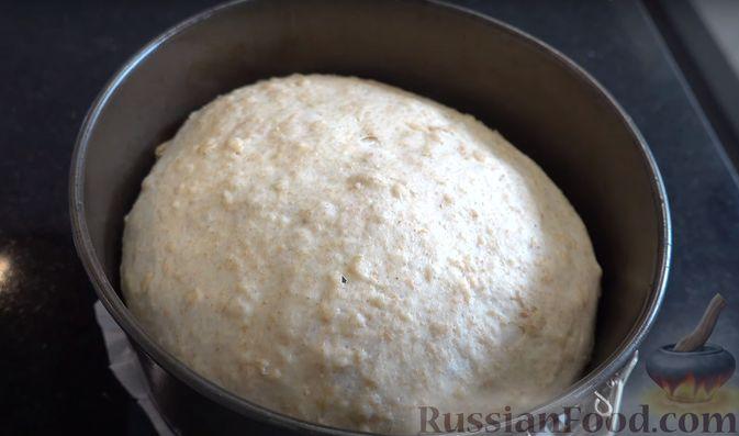 Фото приготовления рецепта: Овсяный хлеб с мёдом (по скандинавскому рецепту) - шаг №5