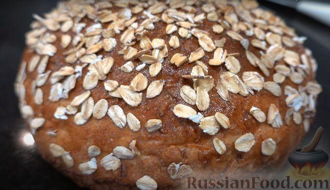 Фото приготовления рецепта: Овсяный хлеб с мёдом (по скандинавскому рецепту) - шаг №7