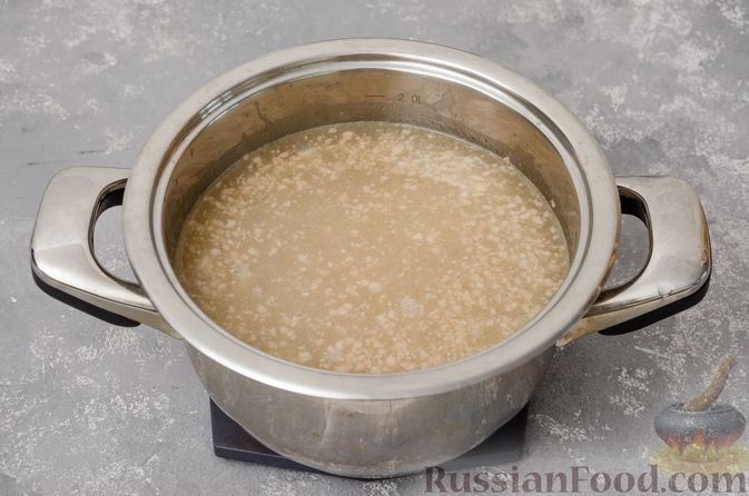 Фото приготовления рецепта: Сливочный суп с мясным фаршем и консервированной кукурузой - шаг №7