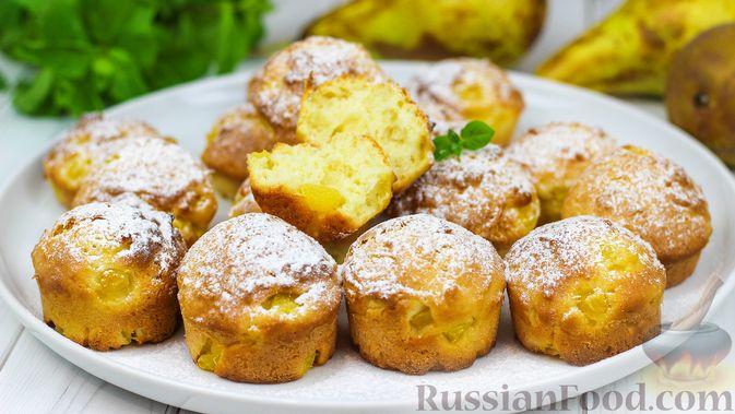 Фото к рецепту: Творожные булочки с грушей