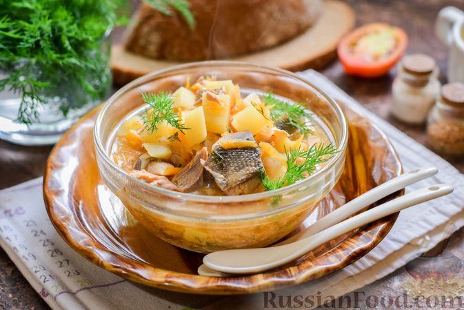 Фото к рецепту: Суп из консервированной горбуши с плавленым сыром