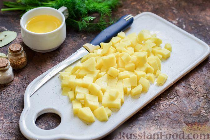 Фото приготовления рецепта: Суп из консервированной горбуши с плавленым сыром - шаг №2
