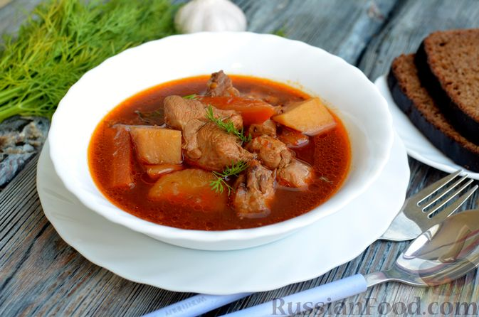 Фото к рецепту: Суп с индейкой и овощами
