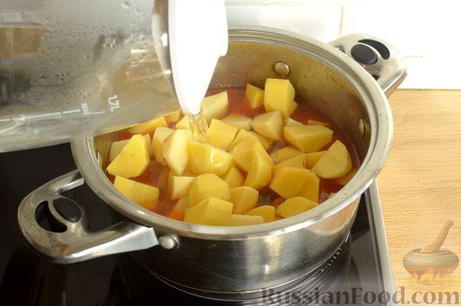 Фото приготовления рецепта: Суп с индейкой и овощами - шаг №10