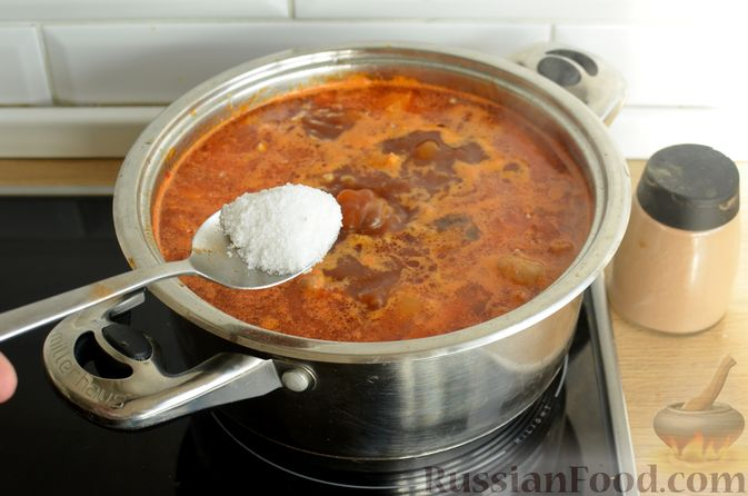 Фото приготовления рецепта: Суп с индейкой и овощами - шаг №13