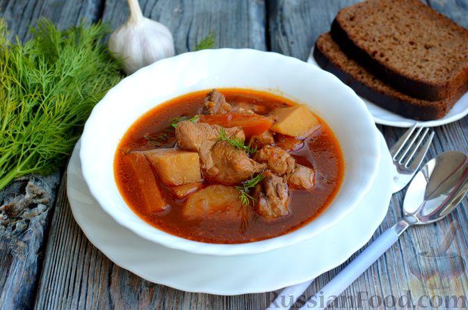 Фото приготовления рецепта: Суп с индейкой и овощами - шаг №14