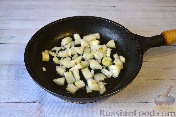 Фото приготовления рецепта: Запеканка из макарон с мясным фаршем и тыквой - шаг №4