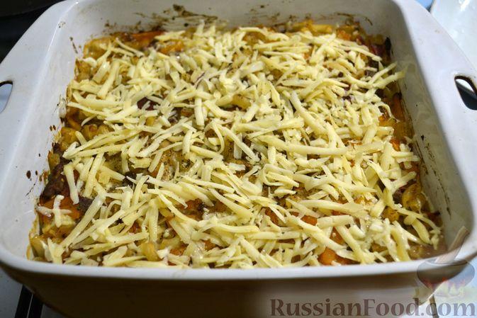 Фото приготовления рецепта: Запеканка из макарон с мясным фаршем и тыквой - шаг №21
