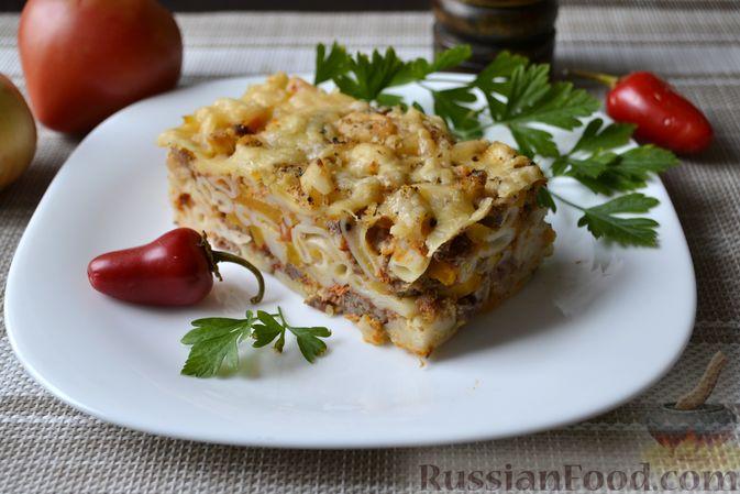 Фото приготовления рецепта: Запеканка из макарон с мясным фаршем и тыквой - шаг №23