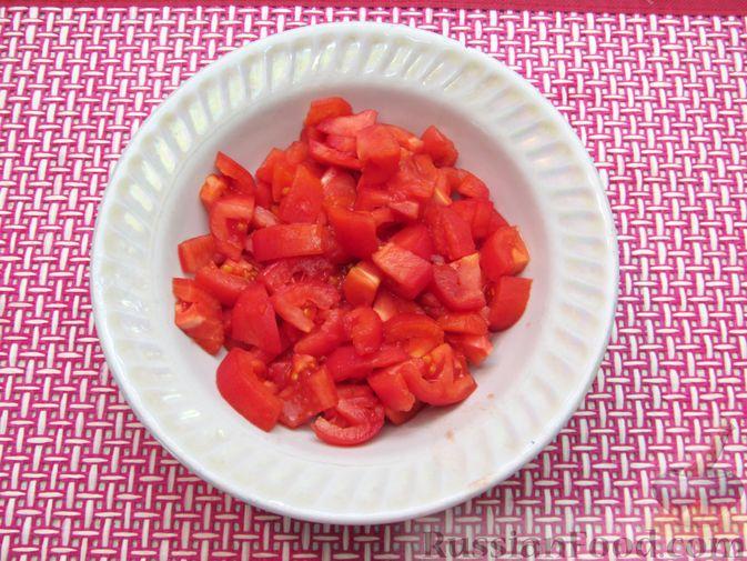Фото приготовления рецепта: Чечевичный суп с овощами и мясными фрикадельками - шаг №3
