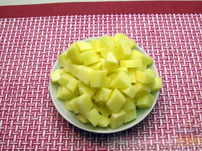 Фото приготовления рецепта: Чечевичный суп с овощами и мясными фрикадельками - шаг №9