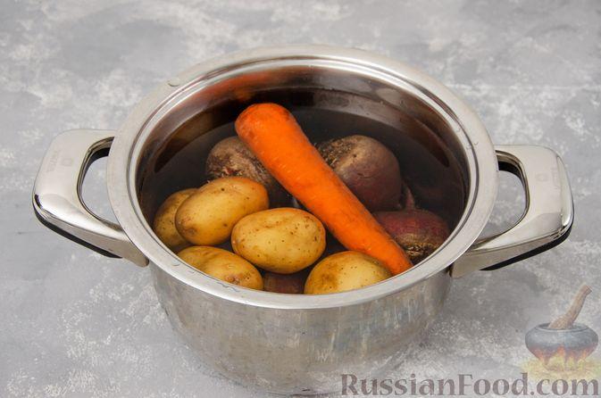 Фото приготовления рецепта: Винегрет с фасолью - шаг №4