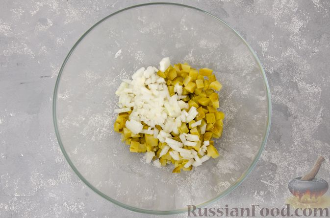 Фото приготовления рецепта: Винегрет с фасолью - шаг №6