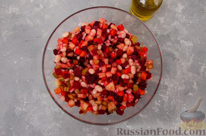 Фото приготовления рецепта: Винегрет с фасолью - шаг №10