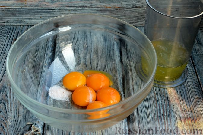 Фото приготовления рецепта: Опавший шоколадный пирог с миндальной мукой, на оливковом масле - шаг №7