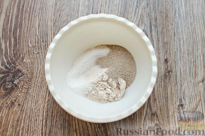 Фото приготовления рецепта: Домашний хлеб из цельнозерновой муки - шаг №3