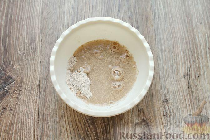 Фото приготовления рецепта: Домашний хлеб из цельнозерновой муки - шаг №4