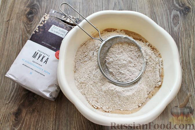 Фото приготовления рецепта: Домашний хлеб из цельнозерновой муки - шаг №8