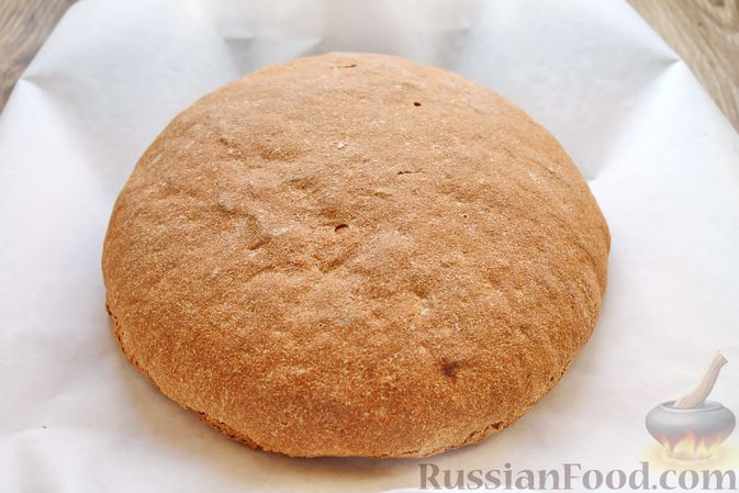 Фото приготовления рецепта: Домашний хлеб из цельнозерновой муки - шаг №14