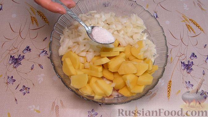 Фото приготовления рецепта: Курник с куриным филе и картошкой - шаг №5
