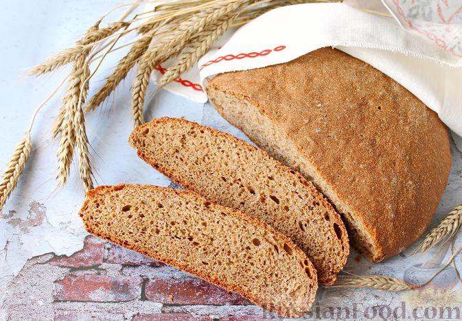 Фото к рецепту: Домашний хлеб из цельнозерновой муки