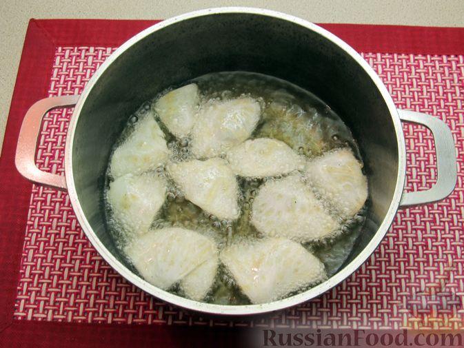 Фото приготовления рецепта: Чипсы из сельдерея - шаг №7