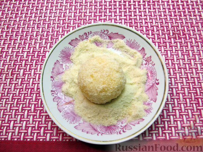 Фото приготовления рецепта: Рисовые крокеты с сыром (в духовке) - шаг №14