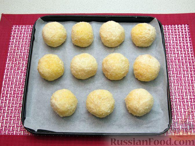 Фото приготовления рецепта: Рисовые крокеты с сыром (в духовке) - шаг №15