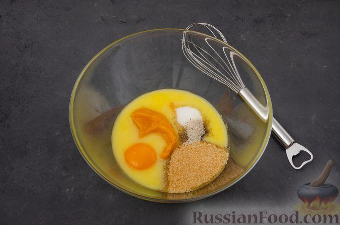 Фото приготовления рецепта: Тыквенные блонди с шоколадом, орехами и корицей - шаг №6
