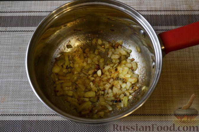 Фото приготовления рецепта: Фасолевый суп с грецкими орехами - шаг №6