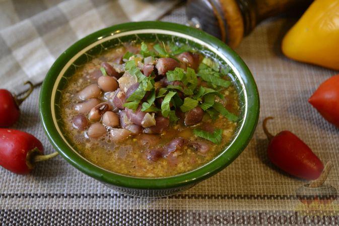 Фото приготовления рецепта: Фасолевый суп с грецкими орехами - шаг №12